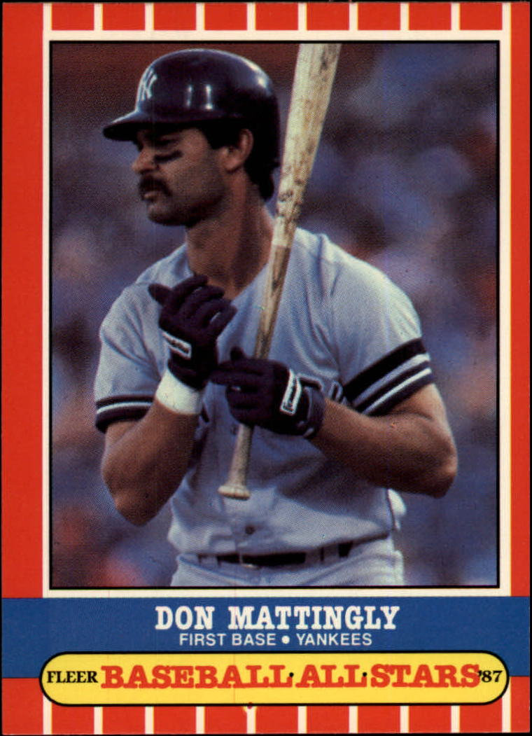 1987 Fleer Baseball All-Stars #26 Don Mattingly