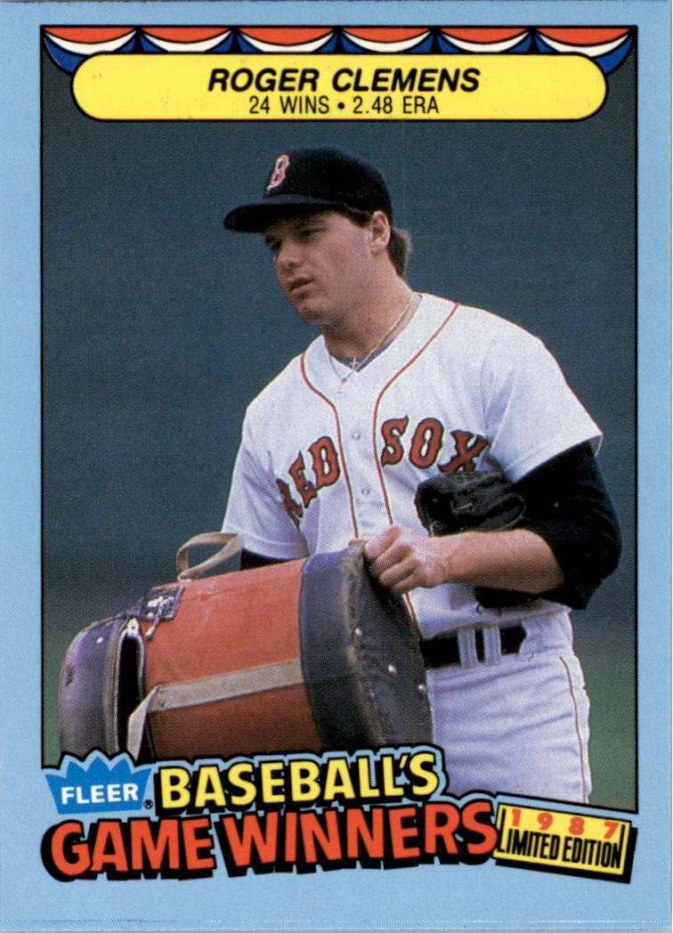 1987 Fleer Game Winners #10 Roger Clemens