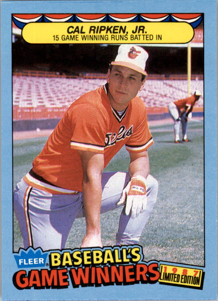 1987 Fleer Game Winners #37 Cal Ripken