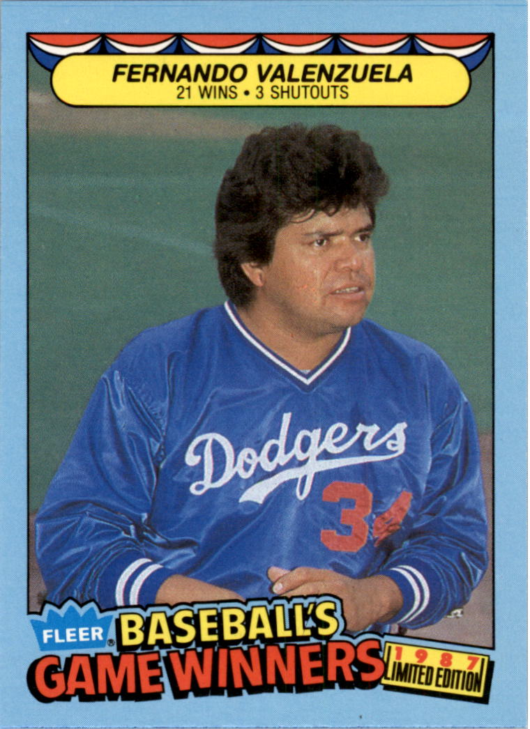 1987 Fleer Game Winners #42 Fernando Valenzuela