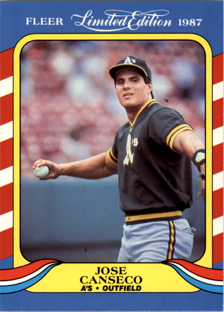 1987 Fleer Limited Edition #6 Jose Canseco