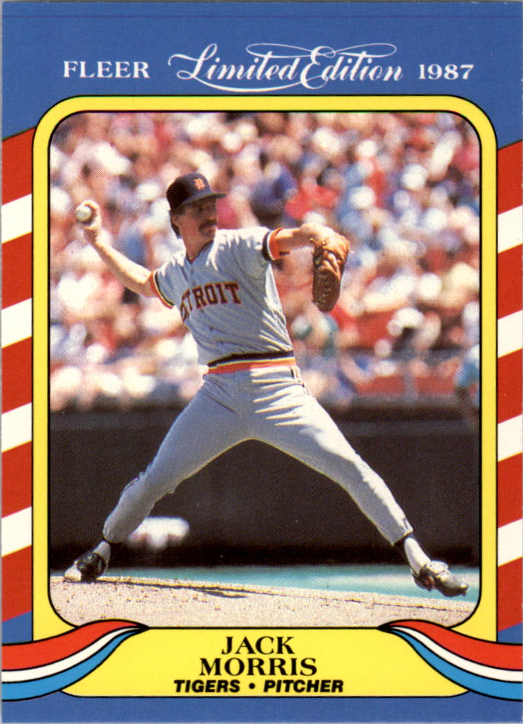 1987 Fleer Limited Edition #28 Jack Morris