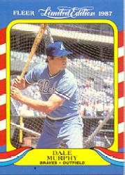 1987 Fleer Limited Edition #30 Dale Murphy
