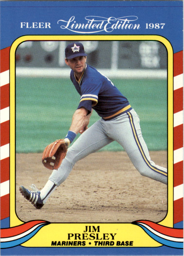 1987 Fleer Limited Edition #33 Jim Presley