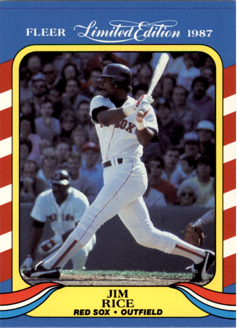 1987 Fleer Limited Edition #35 Jim Rice