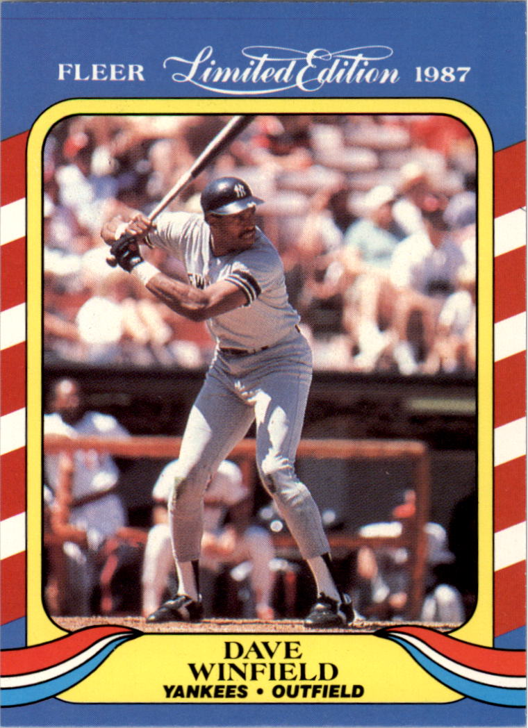 1987 Fleer Limited Edition #42 Dave Winfield