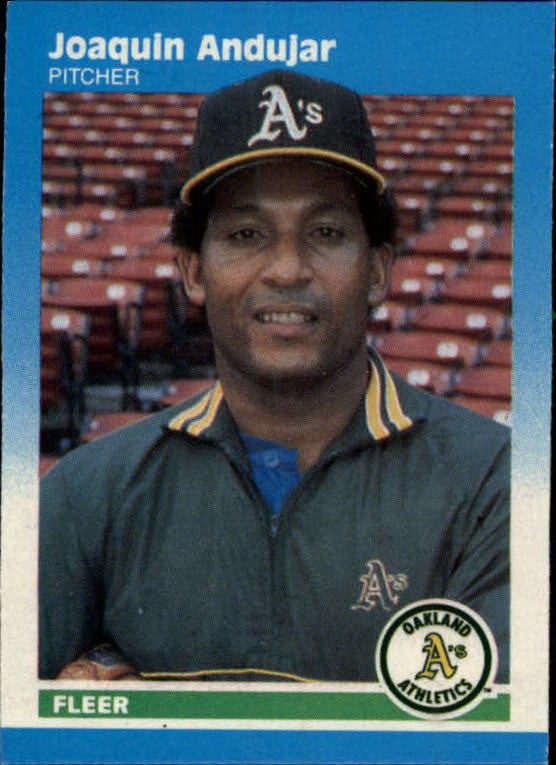 1987 Fleer Mini #2 Joaquin Andujar
