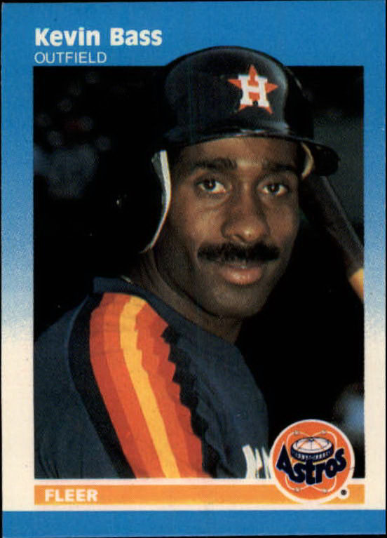1987 Fleer Mini #5 Kevin Bass