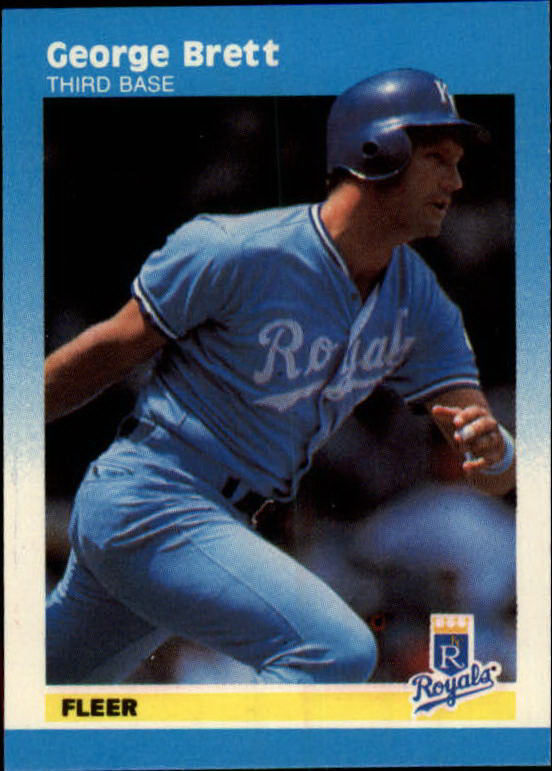 1987 Fleer Mini #13 George Brett