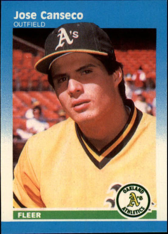 1987 Fleer Mini #17 Jose Canseco