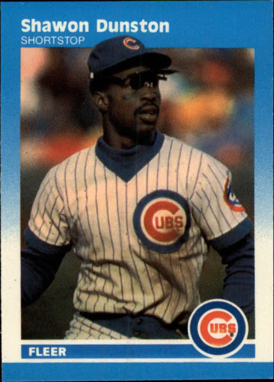1987 Fleer Mini #35 Shawon Dunston