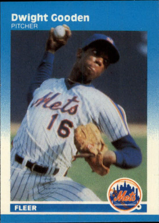 1987 Fleer Mini #45 Dwight Gooden