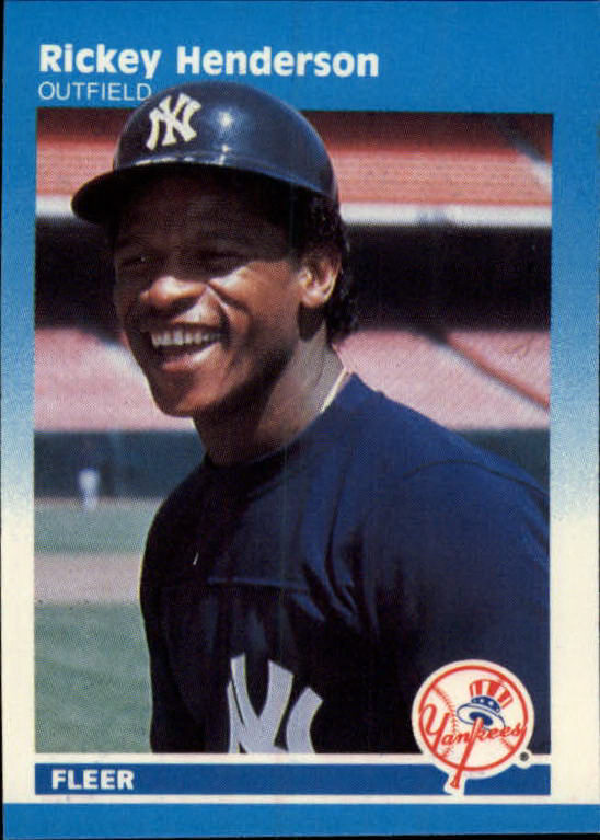 1987 Fleer Mini #52 Rickey Henderson