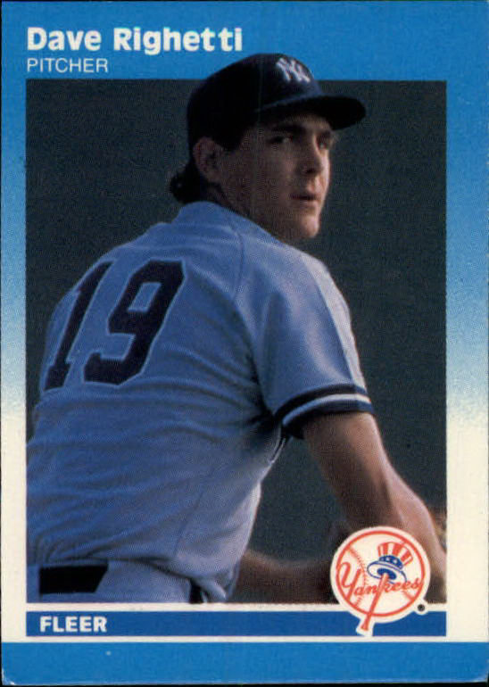 1987 Fleer Mini #90 Dave Righetti