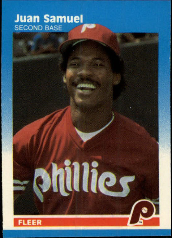 1987 Fleer Mini #94 Juan Samuel