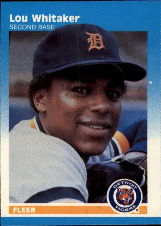 1987 Fleer Mini #112 Lou Whitaker