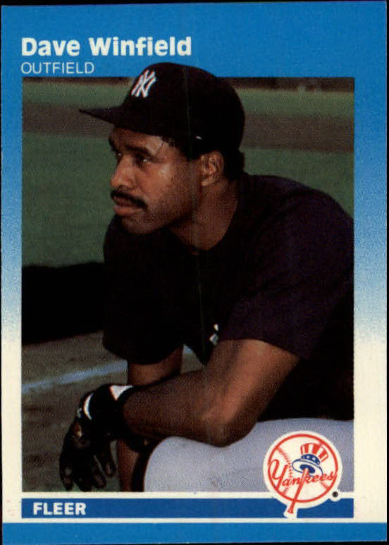 1987 Fleer Mini #117 Dave Winfield