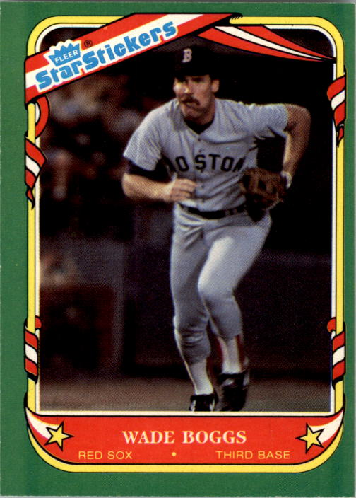 1987 Fleer Star Stickers #12 Wade Boggs