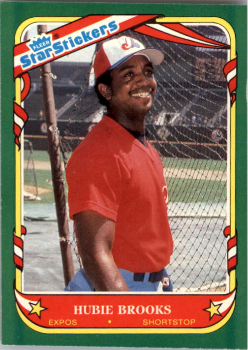 1987 Fleer Star Stickers #16 Hubie Brooks