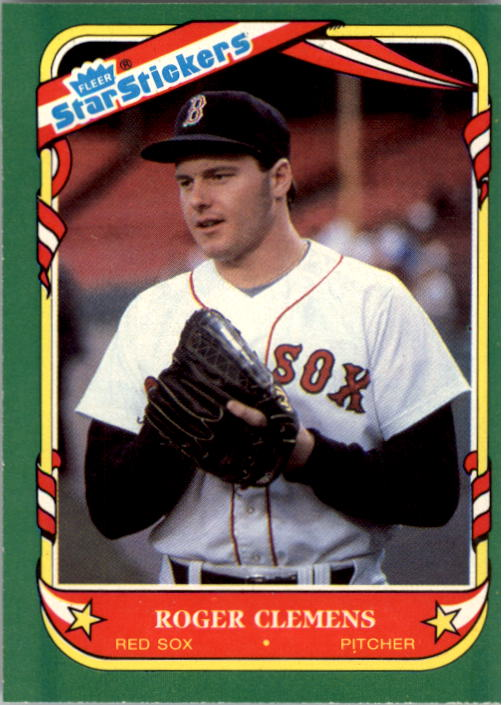 1987 Fleer Star Stickers #24 Roger Clemens
