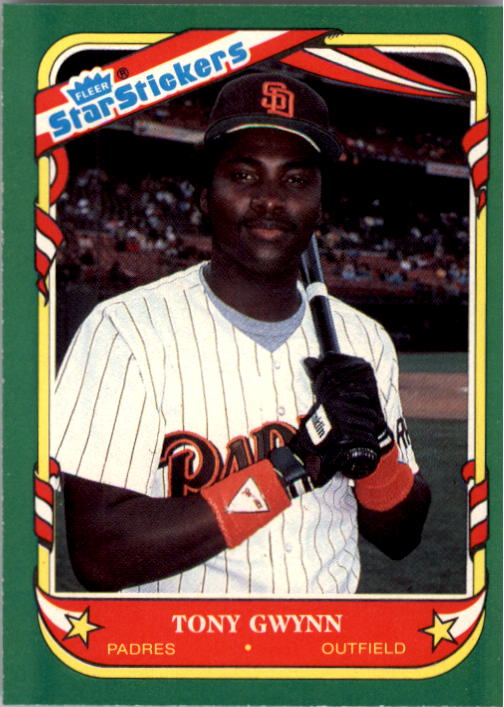 1987 Fleer Star Stickers #52 Tony Gwynn