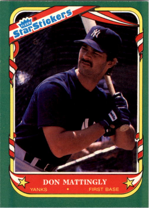 1987 Fleer Star Stickers #74 Don Mattingly