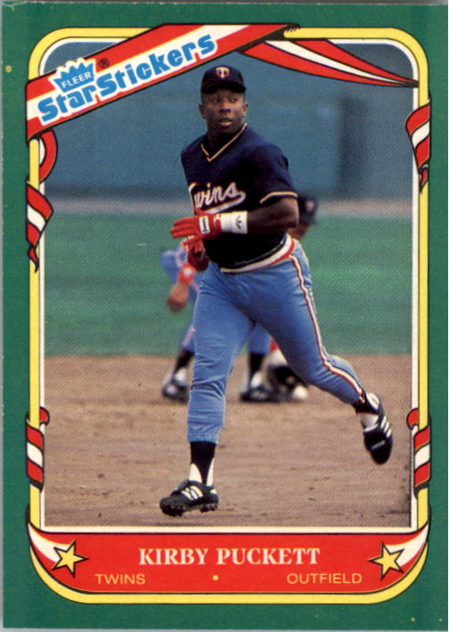1987 Fleer Star Stickers #92 Kirby Puckett