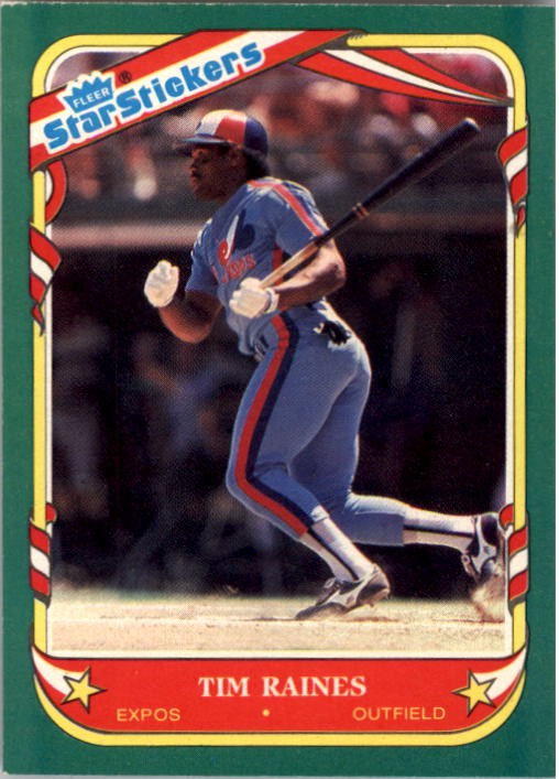 1987 Fleer Star Stickers #94 Tim Raines