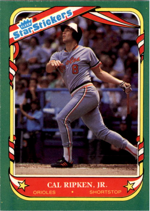 1987 Fleer Star Stickers #101 Cal Ripken