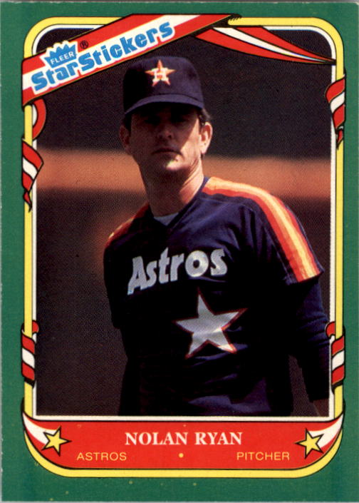 1987 Fleer Star Stickers #103 Nolan Ryan
