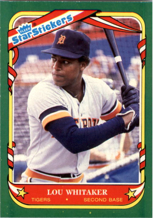 1987 Fleer Star Stickers #122 Lou Whitaker