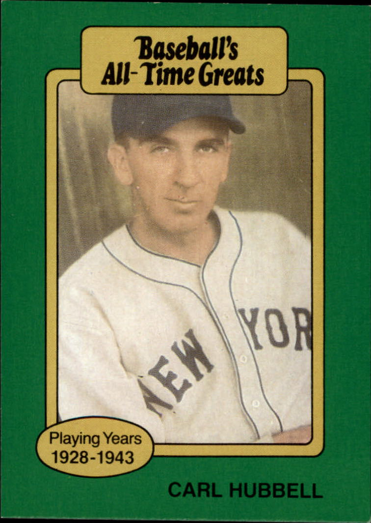 1987 Hygrade All-Time Greats #46 Carl Hubbell