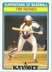 1987 Kay-Bee #25 Tim Raines