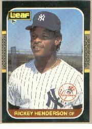 1987 Leaf/Donruss #191 Rickey Henderson