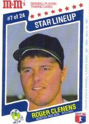 1987 M and M's Star Lineup #7 Roger Clemens