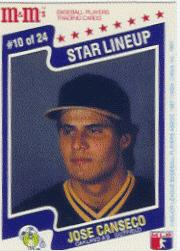 1987 M and M's Star Lineup #10 Jose Canseco
