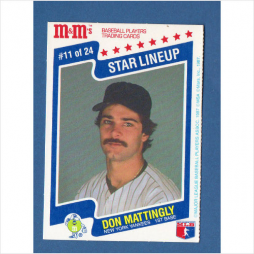 1987 M and M's Star Lineup #11 Don Mattingly