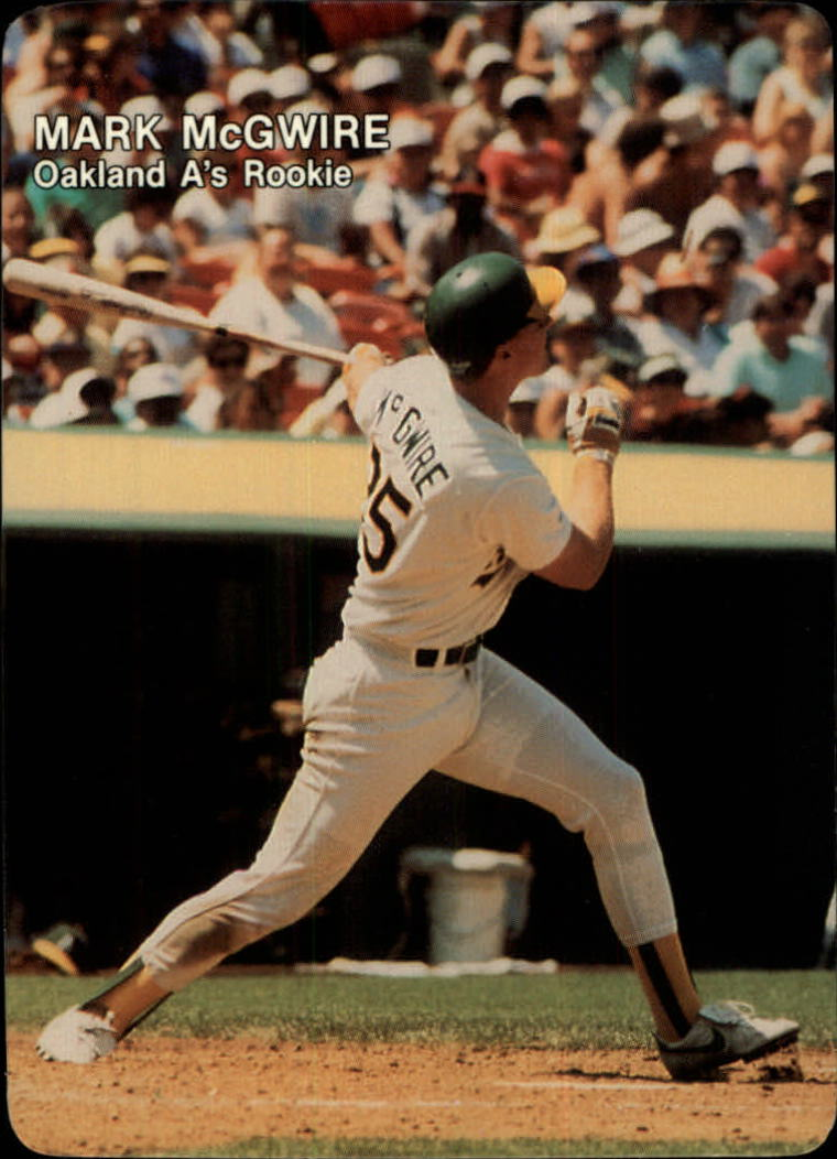 1987 Mother's McGwire #4 Mark McGwire/(Home run swing/follow through)