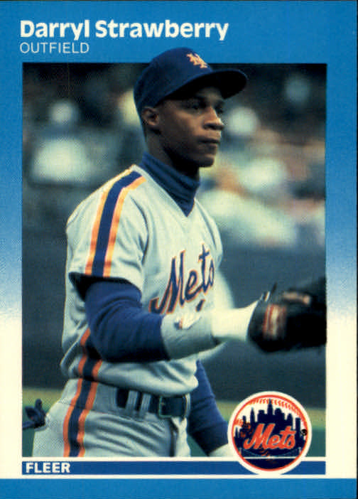 1987 Fleer #23 Darryl Strawberry