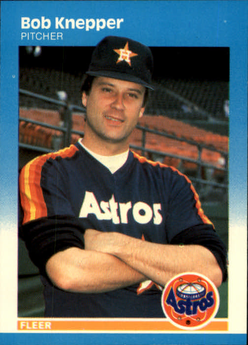 1987 Fleer #61 Bob Knepper