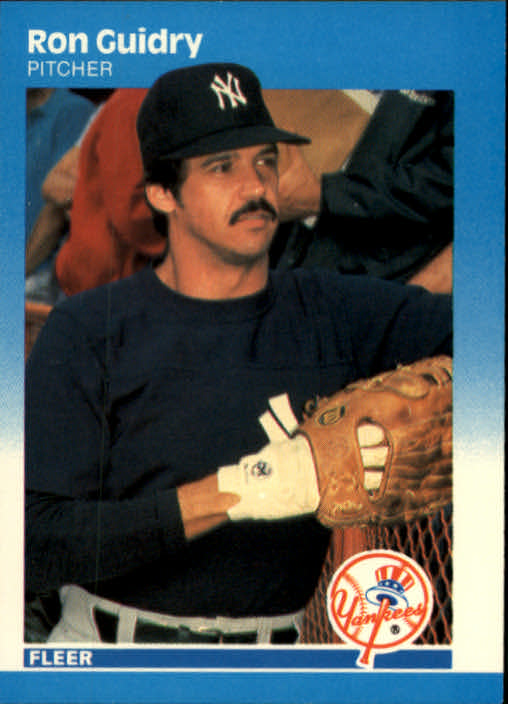 1987 Fleer #100 Ron Guidry