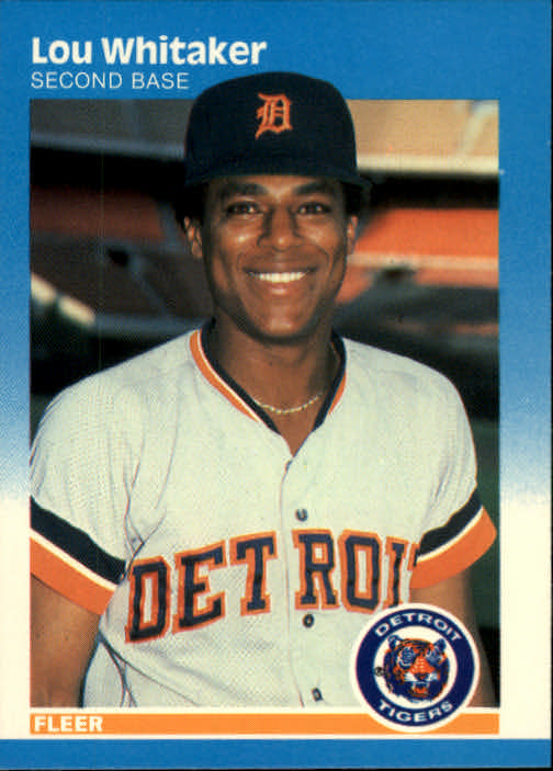 1987 Fleer #168 Lou Whitaker