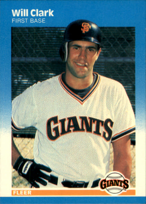 1987 Fleer #269 Will Clark RC
