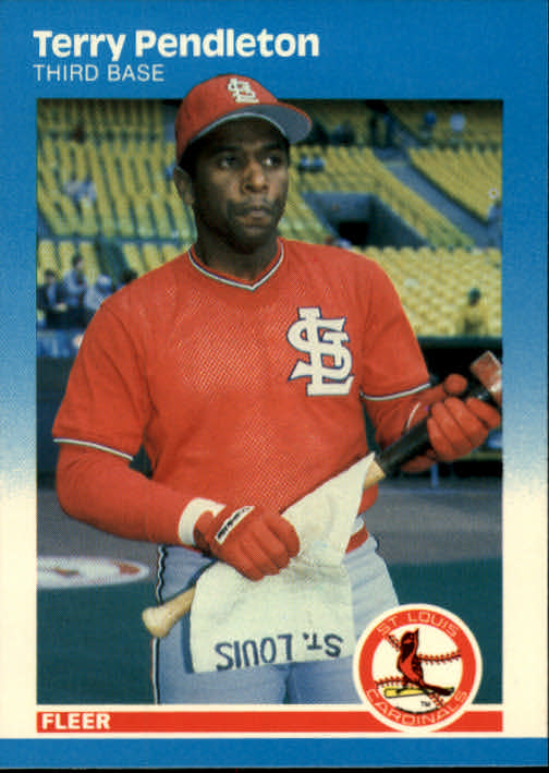 1987 Fleer #306 Terry Pendleton front image