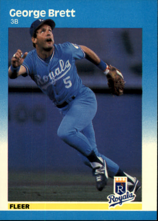 1987 Fleer #366 George Brett