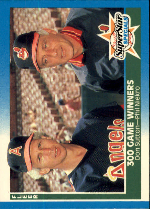 1987 Fleer #626 300 Game Winners/Don Sutton/Phil Niekro