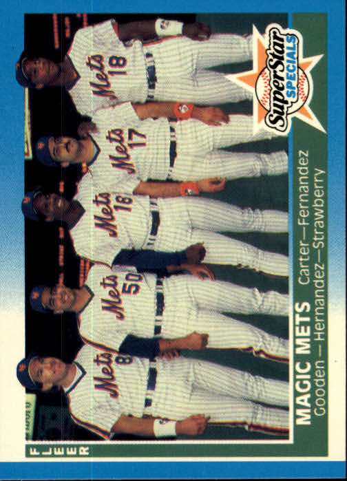 1987 Fleer #629 Gary Carter/Sid Fernandez/Dwight Gooden/Keith Hernandez/Darryl Strawberry
