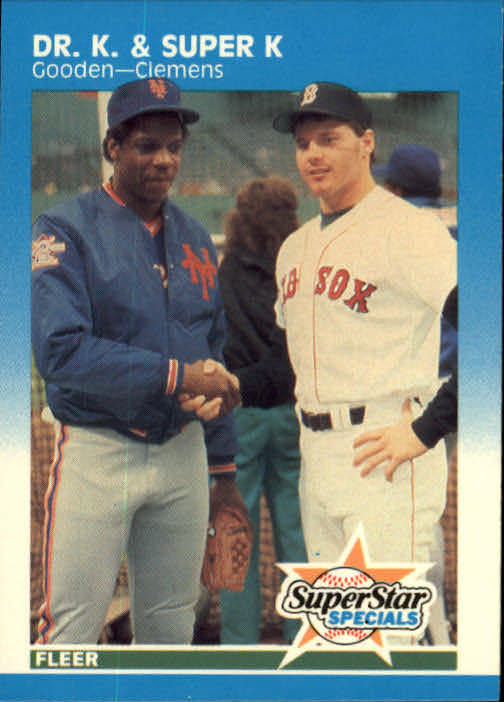 1987 Fleer #640 Dwight Gooden/Roger Clemens