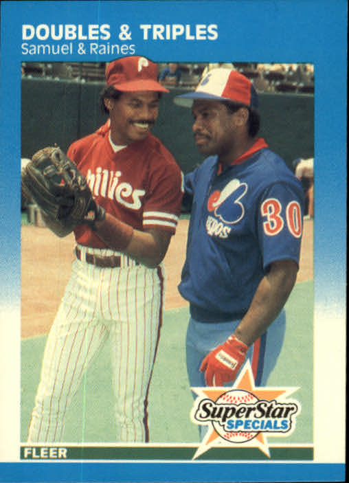 1987 Fleer #642 Doubles and Triples/Juan Samuel/Tim Raines
