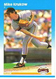 1987 Fleer Glossy #275 Mike Krukow